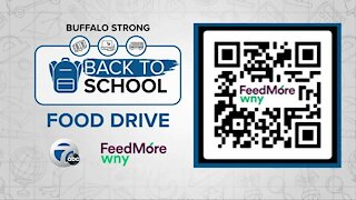 AM Buffalo live at Walmart for Buffalo Strong Back-to-School Food Drive for Feedmore WNY - Part 2