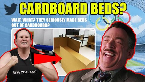 Olympic Athletes in Tokyo forced to sleep on CARDBOARD BEDS to stop any HANKY PANKY!