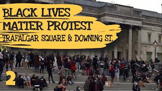 BLM PROTEST TRAFALGAR SQUARE & DOWNING STREET - LONDON, ENGLAND - 3RD JUNE 2020