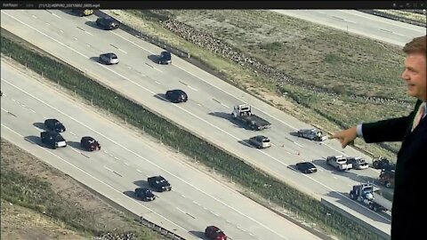State trooper's vehicle struck on C470, minor injuries reported