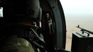 Flight over Iraq