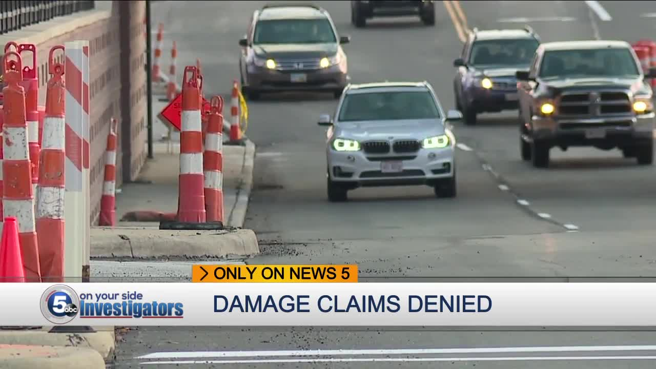 Northeast Ohio drivers upset with road project damage claim rejections