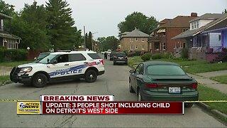 UPDATE: 3 people shot including child on Detroit's west side