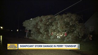 Perry Township cleaning up after severe storm damage