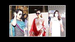 Kangana Ranaut, Richa Chaddha & Urvashi Rautela spotted at the Airport | SpotboyE
