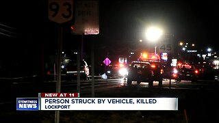 One person dead after being hit by vehicle in Lockport