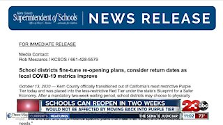 Schools can reopen in two weeks
