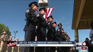 Lee Co. Fallen Officer Memorial
