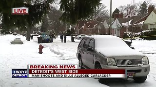 Man shoots and kills alleged carjacker on Detroit's west side