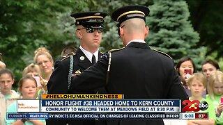 Honor Flight 38 back in Kern County