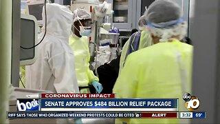 Senate approves $484 billion relief package