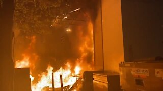 Portland Apple Store in Flames After Antifa Riot