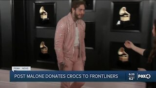 Post Malone donates Crocs to frontline workers