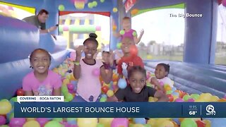 World's largest bounce house is in Boca Raton