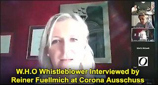 WHO Whistleblower Speaks With Reiner Fuellmich at Corona Ausschuss