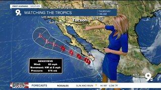 An upswing in moisture brings back rain chances