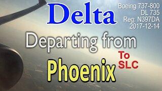 Delta flight leaving from Phoenix airport in Boeing 737-832 #DL735