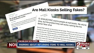 Warning About Returning Items to Mall Kiosks