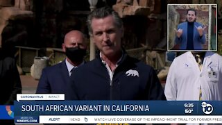 Newsom confirms 2 cases of South African variant in California