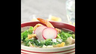 Easy Green Pozole with Shrimp