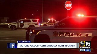 Glendale motorcycle officer hurt in crash