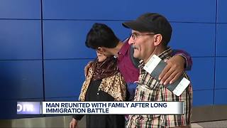 Man reunited with family after long immigration battle