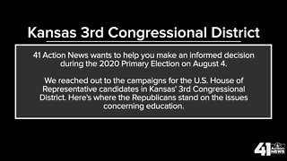 Candidates for Kansas' 3rd congressional district on education