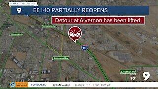 Crash restricts traffic on eastbound I-10 near Alvernon