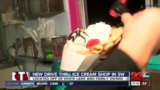 New Drive-Thru Ice cream shop opens during the covid-19 pandemic