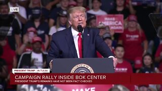President Trump ends rally in Tulsa
