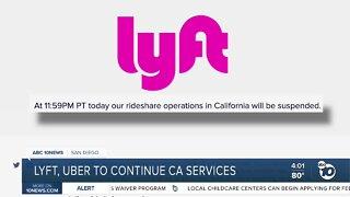 Lyft, Uber continue service in California