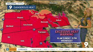 Extreme heat returns to the desert southwest