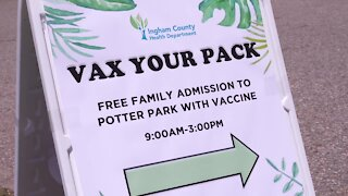 Ingham County Health Department hosts vax your pack event at Potter Park Zoo