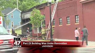 Fire causes damage near Jackson liquor store