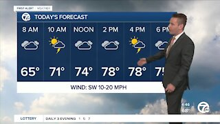 Metro Detroit Forecast: Still warm; chance of storms today