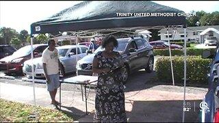 Church hosts drive-in service in West Palm Beach