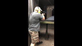 Full auto Tommy gun at Battlefield Vegas