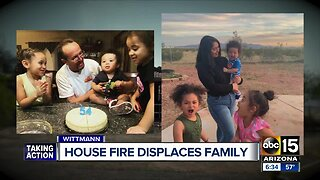 House fire displaces Wittmann family