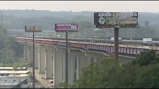 Traffic shifting for Valley View Bridge Project