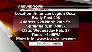 Around Town 2/25/19: Community Blood Drive