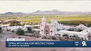 San Javier Mission restrictions