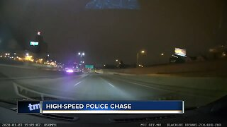 One person was arrested after a police chase ended in Glendale overnight.