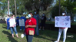 Nurses protest for fair work conditions