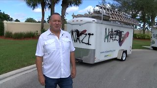 Neighbors disturbed after trailers are vandalized in Palm Beach County