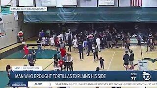 Man who brought tortillas to Coronado High basketball game explains his side