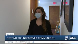 COVID-19 testing to underserved communities