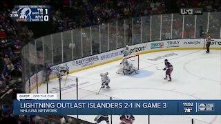 Lightning lead series 2-1 against New York Islanders