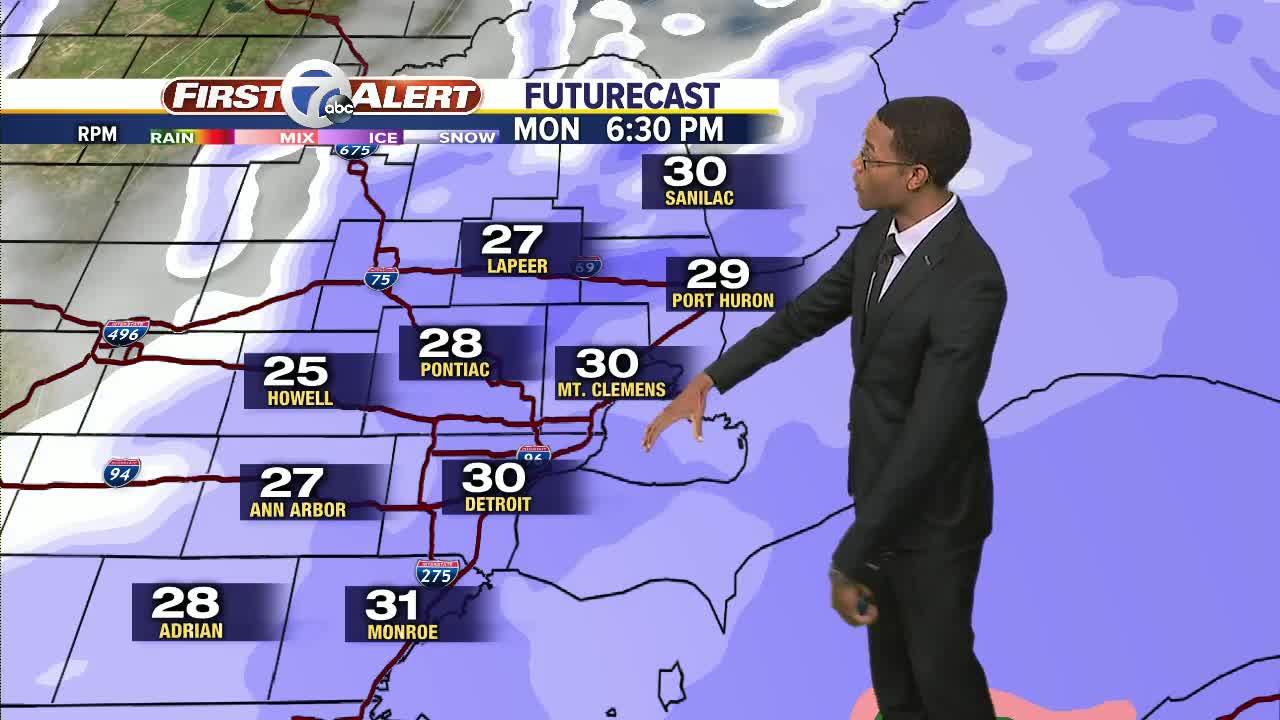 Metro Detroit Forecast: Snow blanketing Metro Detroit through the day