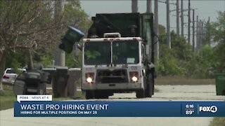 Waste Pro Fort Myers division hosts hiring event