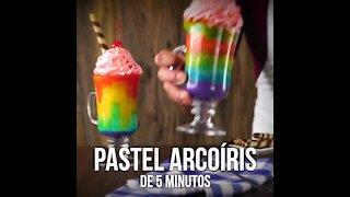5 minute Rainbow Cake